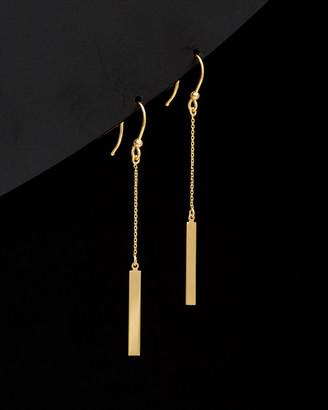 14K Italian Gold Bar Drop Earrings