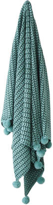 Linen House Loni Knitted Pom Pom Throw