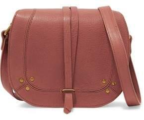 Jerome Dreyfuss Victor Chain-Trimmed Textured-Leather Shoulder Bag