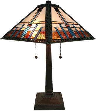 Tiffany & Co. AMORA Amora Lighting AM239TL14 Style Multicolored Mission Table Lamp 21 inches