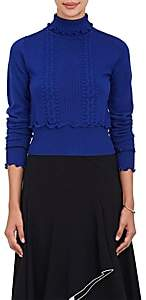 3.1 Phillip Lim Women's Mixed-Stitch Wool-Blend Turtleneck Sweater - Electric Blu