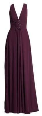 Talbot Runhof Embellished Jersey Gown
