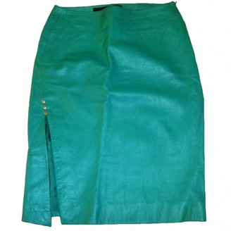 Versus Green Leather Skirt for Women