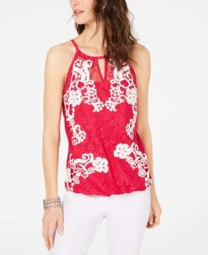 INC International Concepts I.n.c. Sheer Lace Top, Created for Macy's