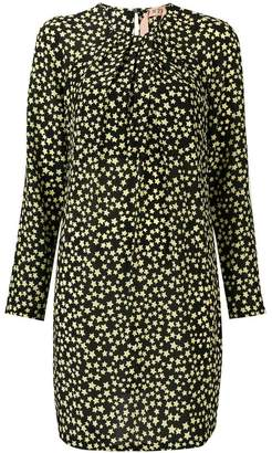 No.21 star print shift dress