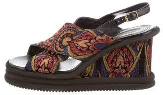 Dries Van Noten Brocade Wedge Sandals