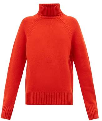 Holiday Boileau Mick Roll Neck Wool Sweater - Womens - Red