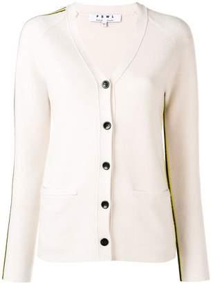 Proenza Schouler side-stripe fitted cardigan
