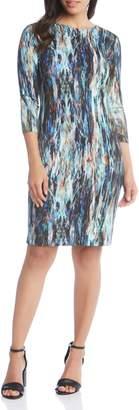 Karen Kane Abstract Print Sheath Dress