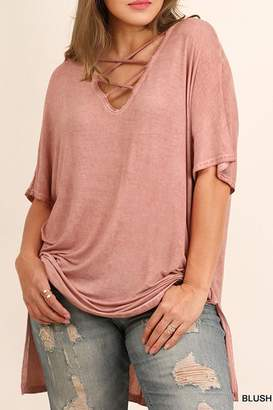 Umgee USA Blush Plus Top