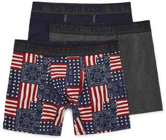 U.S. Polo Assn. USPA 3 Pair Boxer Briefs