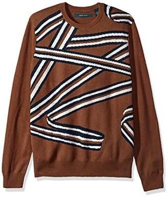 Perry Ellis Men's All Over Printed Crew Sweater