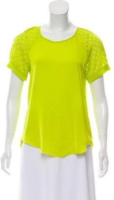 Rebecca Taylor Short Sleeve Crew Neck Top