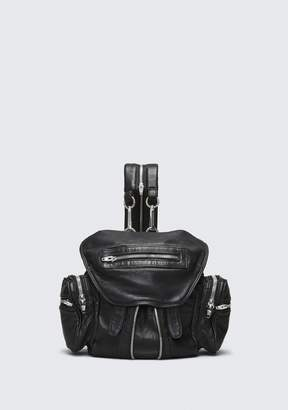 Alexander Wang Mini Marti Backpack In Washed Black With Rhodium