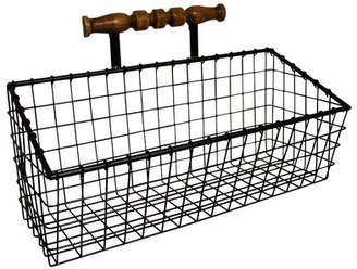 Cheungs 18 x 11 x 7.75 Metal Wall Organizer With Wooden Hanger