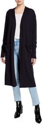 Jason Wu Merino Wool Lightweight Button-Front Long Cardigan