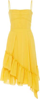 Derek Lam 10 Crosby Cami Cotton Dress With Asymmetrical Hem