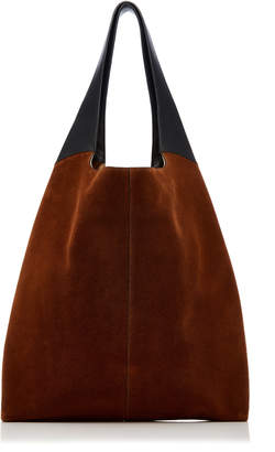 Hayward Leather-Trimmed Suede Tote