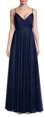 Jenny Yoo Spaghetti Strap Floor-Length Gown
