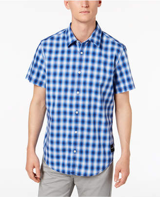 Calvin Klein Jeans Men's Short-Sleeve Plaid Shirt