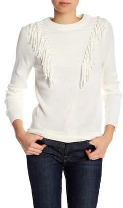 Blush Noir Front Fringe Knit Sweater
