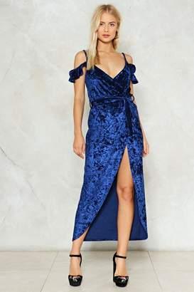 Nasty Gal Slit Back and Let It Happen Velvet Dress