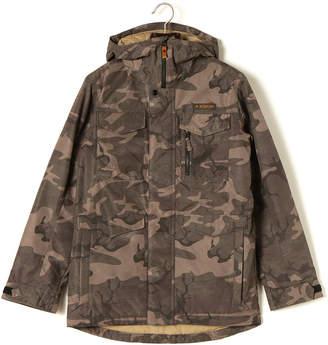 Burton (バートン) - BURTON Covert Jacket 迷彩 中綿入 フーデッド 比翼ジップ ジャケット ブラックカモ xxs