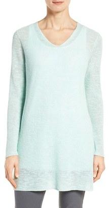 Women's Eileen Fisher Slubbed Organic Linen & Cotton Tunic $168 thestylecure.com