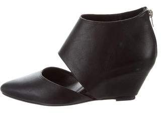 Loeffler Randall Leather Wedge Booties