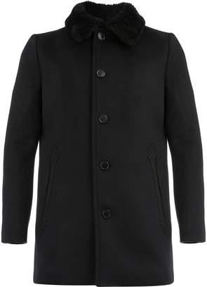 Saint Laurent contrast collar coat