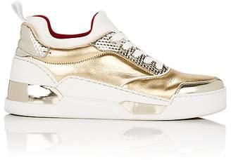 Christian Louboutin Women's Aurelien Donna Flat Mixed-Material Sneakers