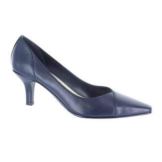 Easy Street Shoes Womens Chiffon Pumps Slip-on Pointed Toe Spike Heel