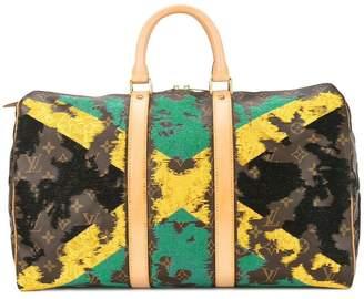 Jay Ahr Jamaican flag vintage Louis Vuitton keepall