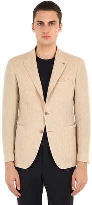 Tagliatore Unlined Cotton Linen Blend Jacket