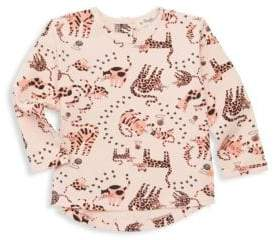 Baby Girl's Cat-Print Long-Sleeve Tee
