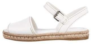 Prada Leather Ankle Strap Espadrilles
