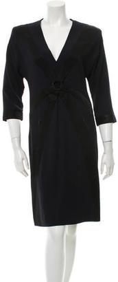 Jean Paul Gaultier Satin-Trimmed Sheath Dress $140 thestylecure.com