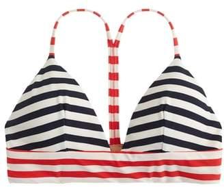 J.Crew Stripe Banded T-Back Bikini Top