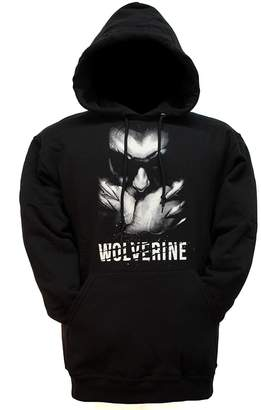 Wolverine Toy Zany Marvel Face Mens Pullover Hoodie Sweatshirt |