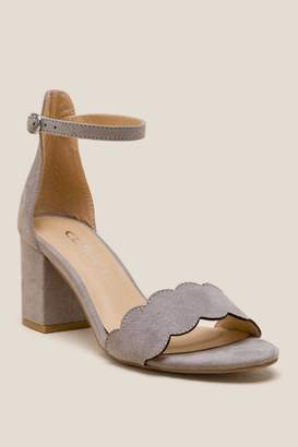 Laundry by Shelli Segal Cl By Laundry CL by Laundry Jayne Scalloped Peep Toe Heel - Gray