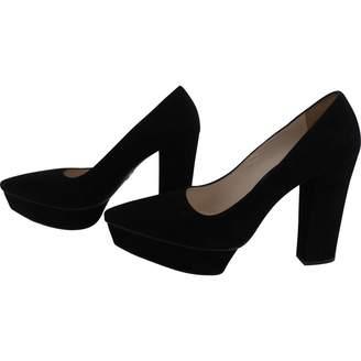 Prada Black Velvet Heels