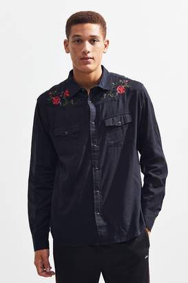 Urban Outfitters Embroidered Western Shirt
