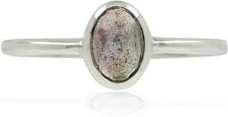 Lee Renee Labradorite Rose Cut Ring - Silver