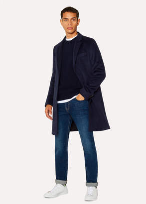 Paul Smith Men's Dark Navy Alpaca-Wool Blend Overcoat