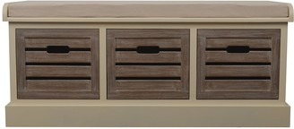 Decor Therapy Melody 3-Drawer Storage Bench