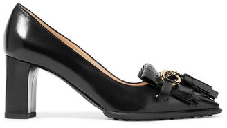 Tod's - Fringed Leather Pumps - Black $830 thestylecure.com