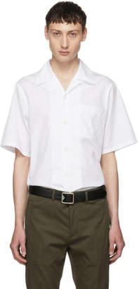 Prada White Poplin Bianco Shirt