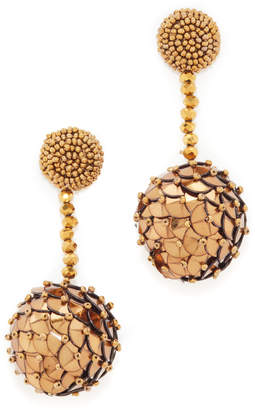 Beaded Sequin Ball Earrings