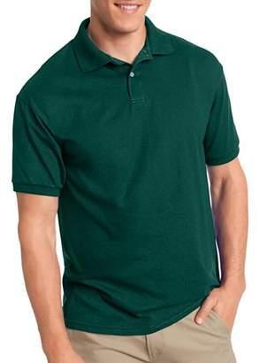 Hanes Big Men's EcoSmart Short Sleeve Jersey Golf Shirt
