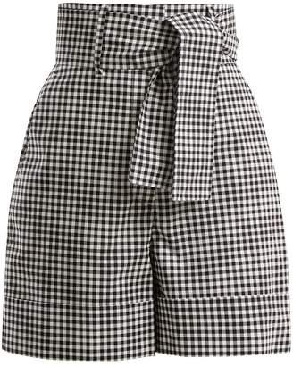 Sara Battaglia Vichy gingham cotton shorts